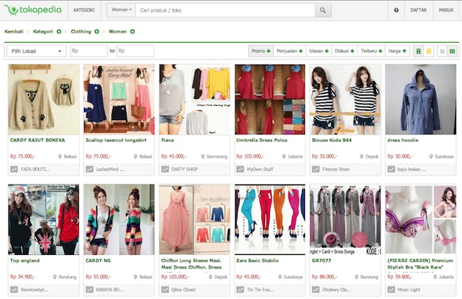 Where are indonesians shopping online these 3 websites for Good sites to shop online