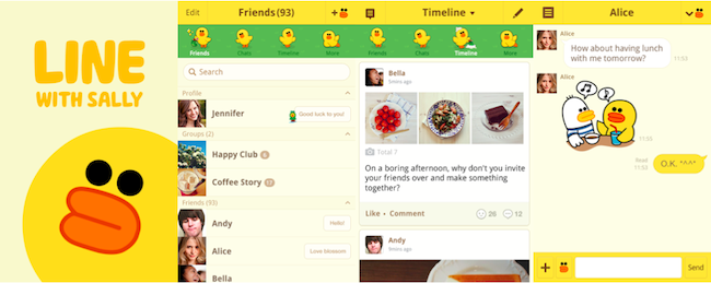 LINE releases Android Theme Shop; also has an amazing