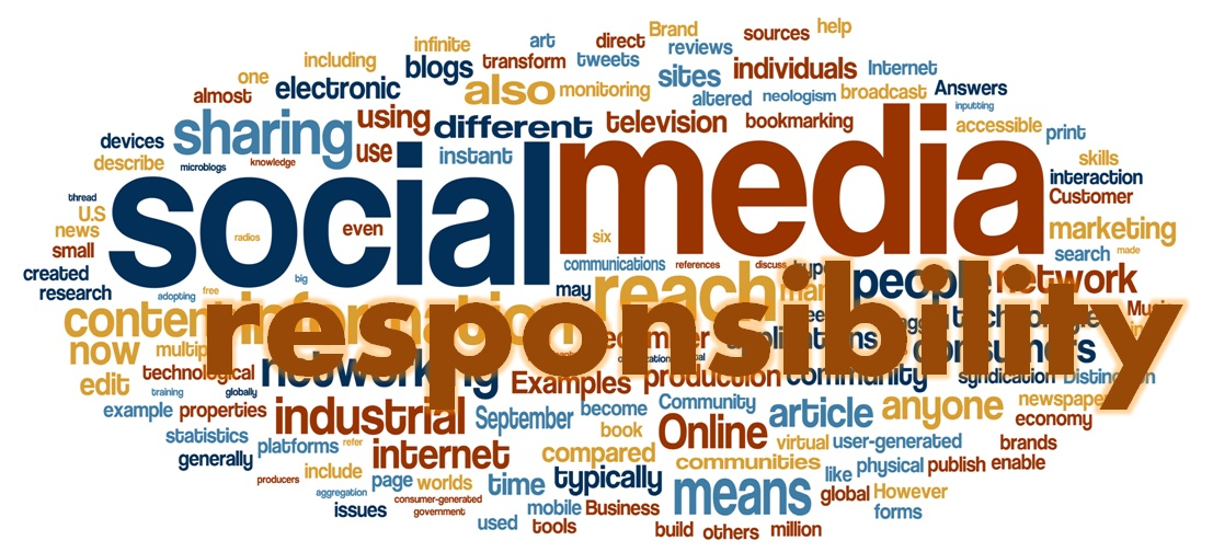 lack of responsibility in social media Social networks have opened up a new avenue of communication for millions of people around the world the major attraction of this technology is the ease with which people can share their personal information with their friends.