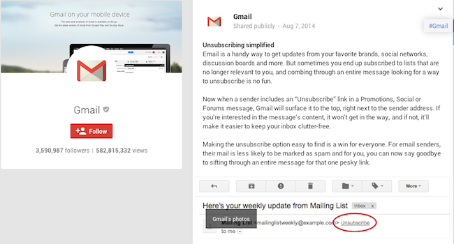 Unsubscribe Button Gmail Gmail Unsubscribe Button