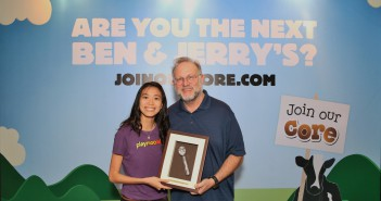 Audrey PlayMoolah (Winner) with Jerry Greenfield