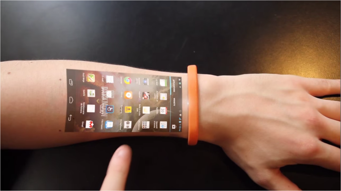 The Cicret Bracelet: Wearable Technology That Makes Your ...