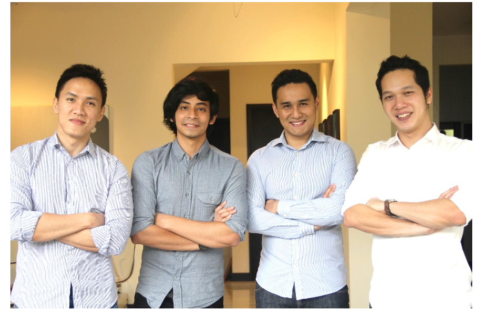 From left: Co-founder Choong Fui-Yu, front-end developer Gadaffi Rusli, Co-Founder Jeffri Cheong and back-end developer Nguyen v Nguyen.