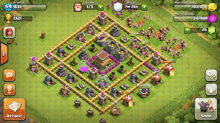 how to use cash for apps for clash of clans