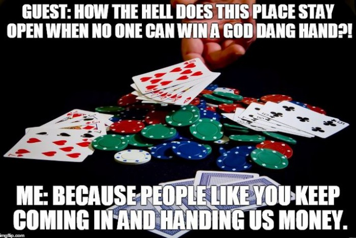 working in a casino as a dealer