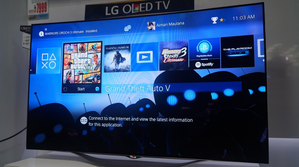 i tested a playstation4 on a rm10k full hd oled tv. Black Bedroom Furniture Sets. Home Design Ideas