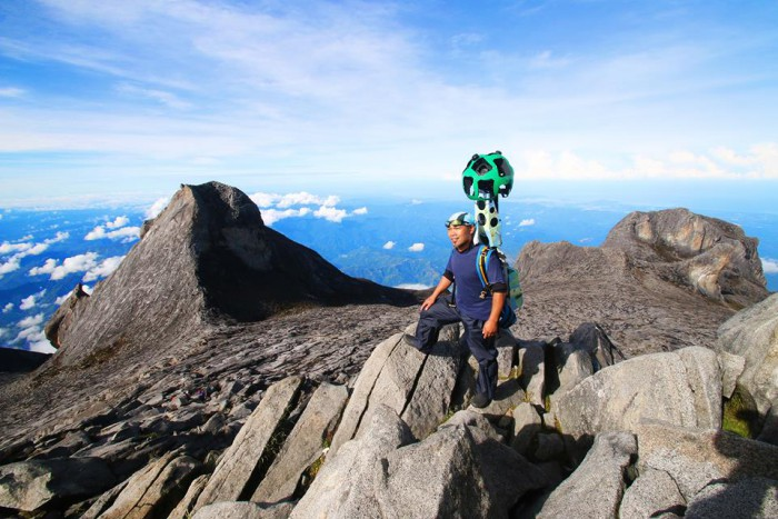 Mount Kinabalu using Google Street View